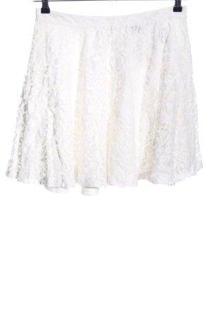 H&M Falda de encaje blanco Mezcla de patrones look casual