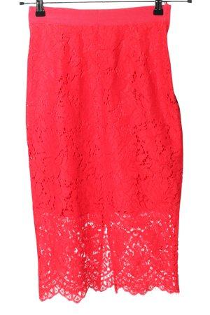 H&M Koronkowa spódnica czerwony W stylu casual