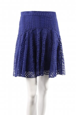 H&M Spitzenrock blau
