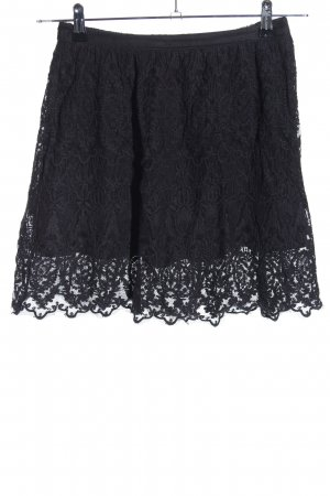 H&M Lace Skirt black casual look