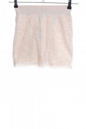 H&M Lace Skirt cream casual look