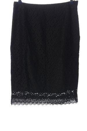 H&M Falda de encaje negro elegante