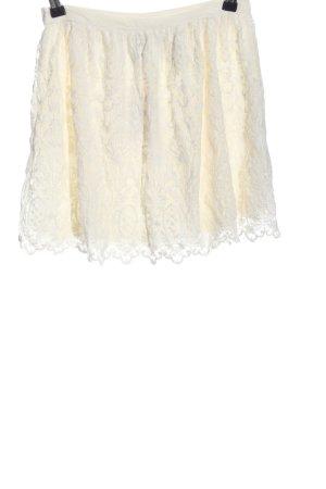 H&M Spitzenrock creme Casual-Look