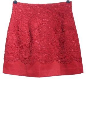 H&M Falda de encaje rojo elegante