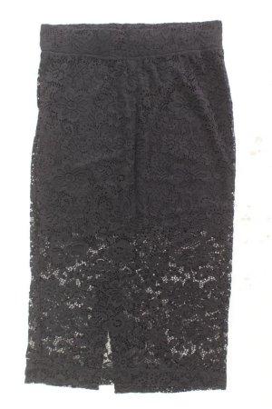 H&M Falda de encaje negro poliamida