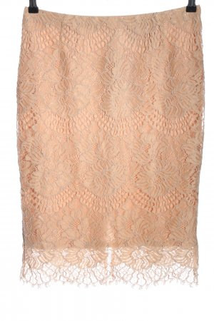 H&M Lace Skirt nude flower pattern casual look