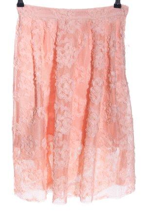 H&M Spitzenrock pink Blumenmuster Elegant