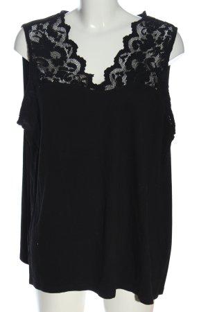 H&M Top di merletto nero stile professionale