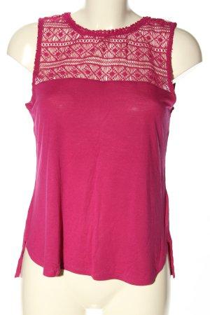H&M Spitzentop pink Casual-Look