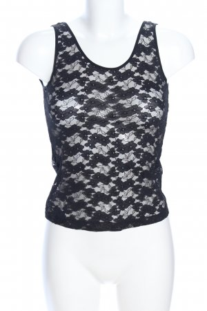 H&M Lace Top black flower pattern elegant