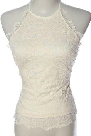 H&M Top de encaje blanco puro look casual