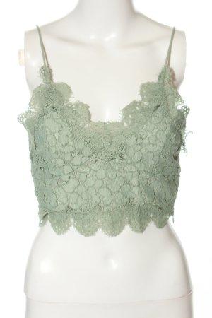 H&M Lace Top khaki elegant