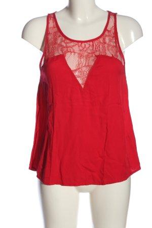 H&M Kanten topje rood elegant