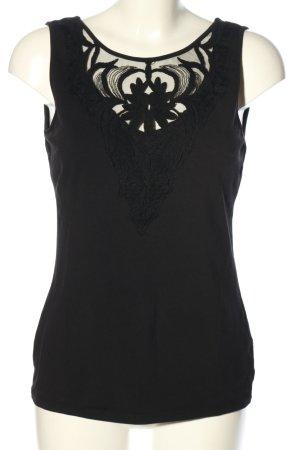 H&M Koronkowy top czarny W stylu casual
