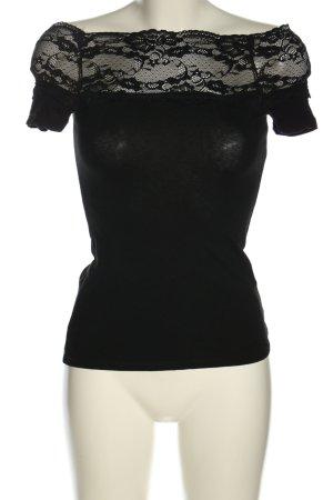 H&M Kanten topje zwart casual uitstraling