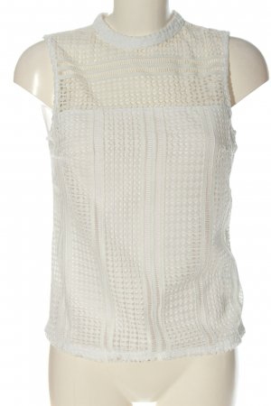H&M Haut en dentelle blanc style simple