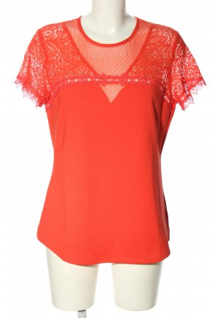H&M Koronkowy top czerwony W stylu casual