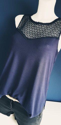 H&M Top di merletto blu scuro