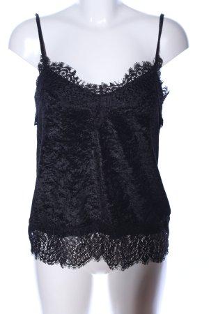 H&M Spitzentop schwarz Elegant