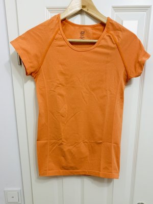 H&M Sport - Aktive wear T- Shirt orange atmungsaktiv elastisch M/ 38