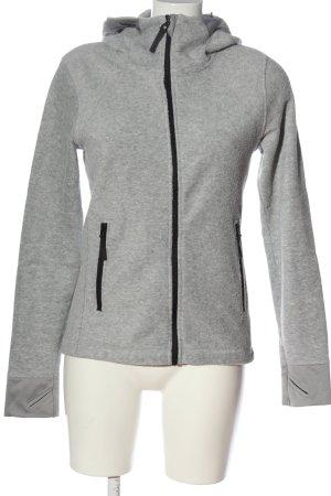 H&M Sport Fleece jack lichtgrijs casual uitstraling