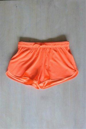 H&M Sport kurze Hose Hotpants Shorts neon orange Gr. XS 34