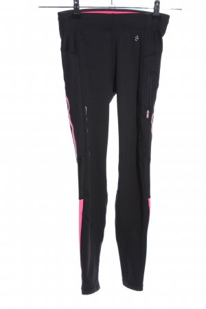 H&M Sport Leggings schwarz-pink Casual-Look