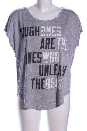 H&M Sport Print-Shirt meliert Casual-Look