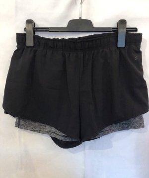 H&M Sport Shorts schwarz grau 40 Running