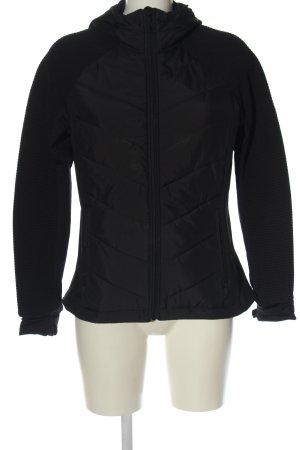 H&M Sport Gewatteerd jack zwart quilten patroon casual uitstraling