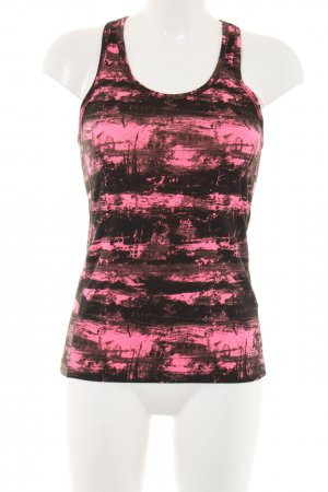 H&M Sport Sporttop braun-pink Allover-Druck Casual-Look
