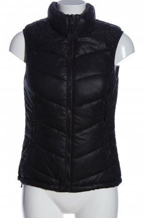 H&M Sport Sports Vests black quilting pattern casual look