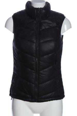 H&M Sport Gilet de sport noir motif de courtepointe style décontracté