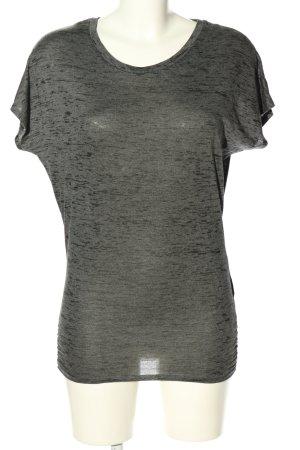 H&M Sport T-Shirt hellgrau meliert Casual-Look