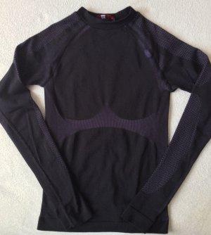 H&M Sport Lingerie Set black-dark violet polyamide