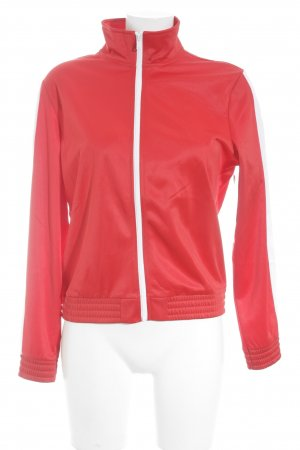 H&M Sportjacke rot-weiß Sternenmuster sportlicher Stil