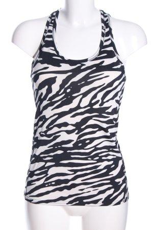 H&M Sportshirt schwarz-wollweiß Allover-Druck sportlicher Stil