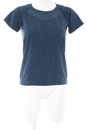 H&M Sportshirt blau meliert Casual-Look