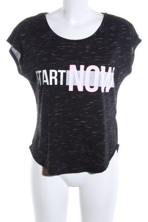 H&M Sportshirt schwarz-weiß meliert Casual-Look