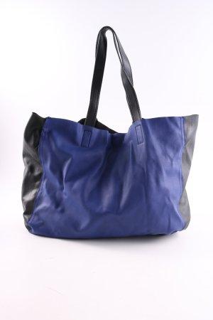 H&M Handtasche schwarz-blau Casual-Look