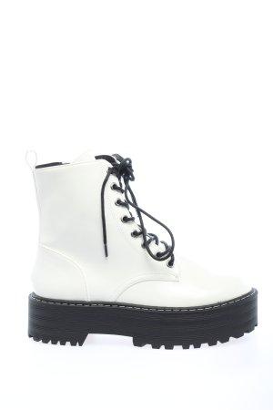 H&M Botas de combate blanco look casual