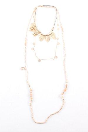 H&M Collier incrusté de pierres doré élégant