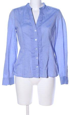 H&M Blusa con collo alla coreana blu stile professionale
