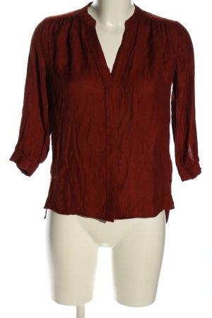 H&M Blouse met opstaande kraag rood zakelijke stijl