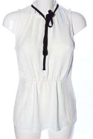 H&M Stand-Up Collar Blouse white casual look