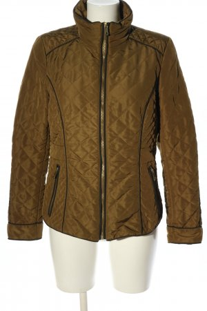 H&M Pikowana kurtka brązowy Pikowany wzór W stylu casual