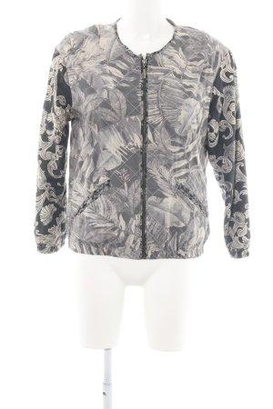 H&M Steppjacke hellgrau-wollweiß abstraktes Muster Casual-Look