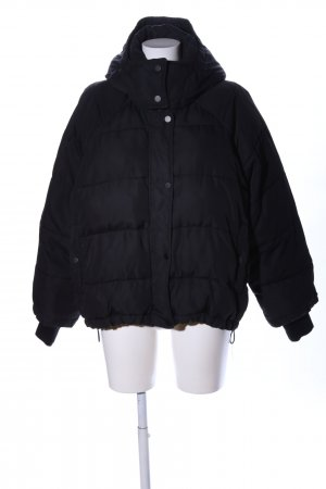 H&M Quilted Jacket black quilting pattern casual look