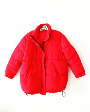 H&M • steppjacke • oversized • rot • casual