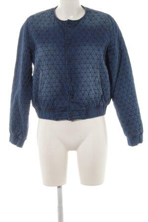 H&M Steppjacke stahlblau Jeans-Optik